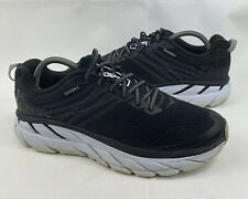 Hoka One One Clifton 6 Black Running Shoes Sneakers Atheistic Men Size 10.5