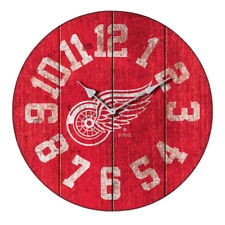 NHL Detroit Red Wings Wooden Wall Clock