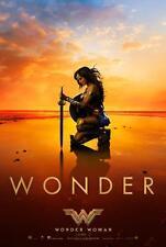 "WONDER WOMAN 11.5""x17"" Original Promo Movie Poster 2017 MINT DC Gal Gadot KNEEL"