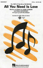 Beatles All You Need Is Love Learn to Sing Choir Vocal Piano SHEET Music Book
