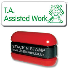 SZ4 - Pre-Inked T.A. Assisted Work Classroom Resource Stamper