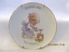 Precious Moments Blessed Are The Merciful Girl Mouse Trap 1980 Plate Enesco
