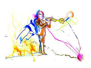 """""""Tomasz Stanko"""" Original Jazz Print created onstage by Jeff Schlanger"""