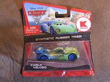 DISNEY PIXAR CARS CARLA VELOSO  W/ SYNTHETIC RUBBER TIRES