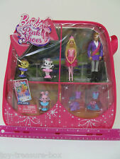 Barbie in the Pink Shoes -FIVE Barbie PVC Figures - including a bunny cat & dog!