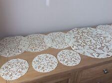 More details for beautiful vintage point de venise 13 piece crochet mats/doilies