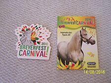 Breyerfest 2016 Carnival - Imperador das Aguas JM trading card & carnival magnet