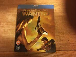 Wanted. Blu Ray Limited Edition Steel Book.James Mcavoy,Morgan Freeman,