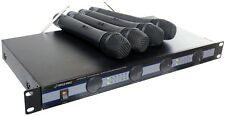 NEW Pyle PDWM5000 VHF 4 Channel Wireless Cordless Handheld Microphone System