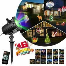 LED Proyector Luces de Navidad,Impermeable Luces de RGB Luz,Multicolor festivo.