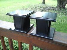 Black Speaker Stands 7  X 7  X 6 HIGH    Hard Wood