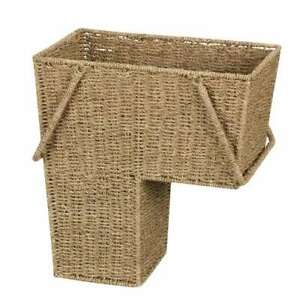 Household Essentials Laundry Basket Natural Brown 16 in.H x 10 in.W X 16 in.D