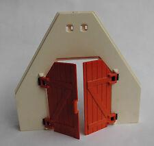 PLAYMOBIL Giebelwand mit Türflügeln zu Scheune aus Set 4490 Bauernhof