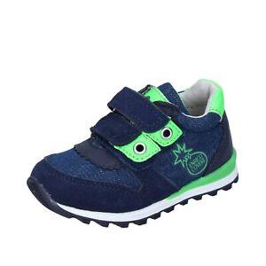 Jungen schuhe ENRICO COVERI 21 EU sneakers blau wildleder grün textil BJ973-21