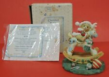 1992 Cherished Teddies Beth Bear On Rocking Reindeer Figurine 950807