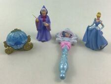Cinderella Figures Toy 4pc Lot Carriage Fairy Godmother and Wand Disney A4