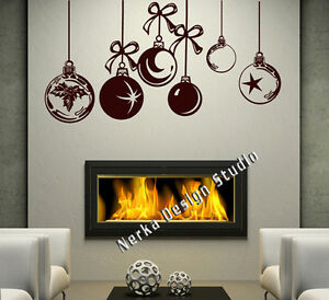 CHRISTMAS WINDOW DECORATION / XMAS BAUBLES STICKERS / CRISTMAS WALL STICKER S26