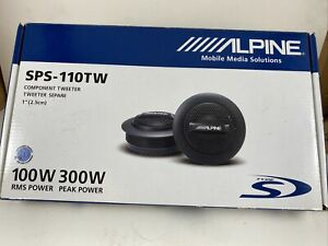 """ALPINE 1"""" Type-S Car Tweeters With High Pass Crossovers 