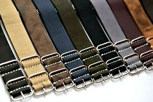 Genuine Leather Watch strap,Military band, fits Omega,18,20,22,24,26 mm,gift