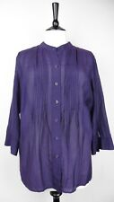 ☆ GAP Purple Size L Tunic Blouse Blue Purple Silk & Cotton Blend