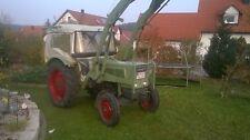 Fendt Farmer 2 E mit Frontlader und Mähwerk