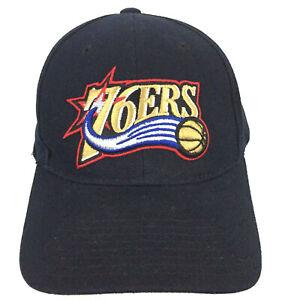 Vtg Philadelphia 76ers Hat Spell Out Logo Wool Reebok NBA Basketball Ball Cap