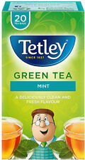 Tetley Green Tea Mint  Tea Bags 3 x 20s