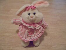 """Adorable White Easter bunny Pink Dress 12"""""""
