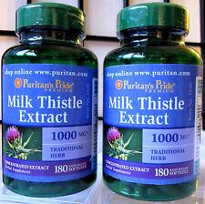 Puritan's Milk Thistle 4:1 Extract 1000 mg 360 Sgels (Silymarin) Liver + Bonus