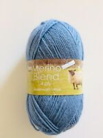 King  Cole Merino Blend 4-Ply- Blue