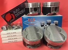 YCP B16 B18 B20 84.5mm High Compression Pistons + Rings kit Honda Acura