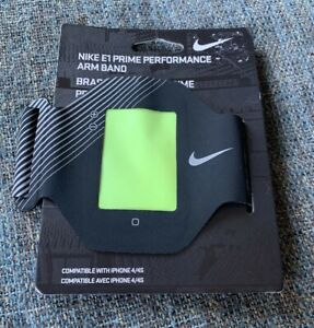 Nwt Nike E1 Prime Performance Arm Band Fits And Iphone 4 Or 4S Black BB6