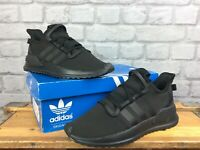 ADIDAS OG MENS UK 8 EU 42 U PATH RUN X BLACK PRIMEKNIT TRAINERS RRP £70 LG
