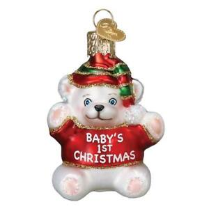 Old World Christmas BABY'S 1st  CHRISTMAS (12093)N Glass Ornament w/Box