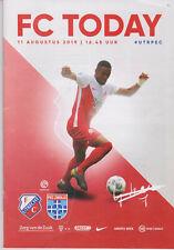 Programme / Programma FC Utrecht v PEC Zwolle 11-08-2019