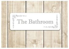 U0027THE BATHROOMu0027 Door Sign Metal Plaque For Toilet Or Bathroom. U0027
