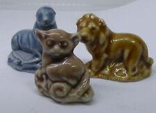 3 Vintage Miniature Wade England Figurines Wombat Lion Seal