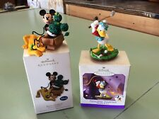 LOT OF 2--DISNEY HALLMARK Ornaments Knot A ProblemPractice Swing1998 - 2010