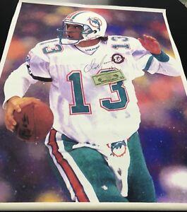 "Dan Marino Signed 30""x40"" Canvas Miami Dolphins HUGE!... PSA COA"
