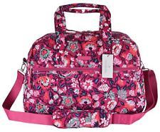 NEW Vera Bradley BLOOM BERRY Floral Print Cotton Medium Traveler Weekender Bag