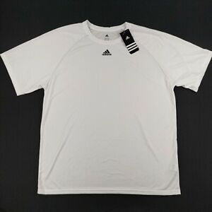 Adidas Mens Climalite Short Sleeve Shirt White Size XL