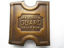 Anson Mills Belt Buckle San Quentin Guard Death Row Solid Brass / with clip