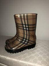 Burberry Kinder REGEN Gummi STIEFEL Schuhe RAIN BOOTS 29/30 Nova Check