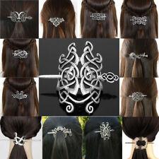 Viking Hair Accessories Vintage Celtics Knots Hairpins Metal Stick Slide HairPin