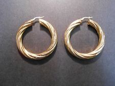 14kt gold italian gold twist earrings(vintage 40yrs old)