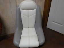 USED BASS BOAT SEAT       GRAY/BEIGE          (#177)
