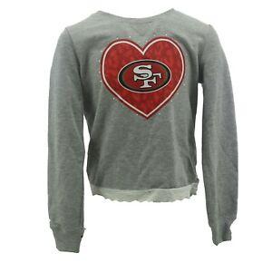 San Francisco 49ers NFL Team Apparel Kids Youth Girls Size Long Sleeve Shirt New