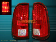 2008-2010 20016 FORD F250 F350 F450 SUPER DUTY RED/CLEAR LED TAIL LIGHTS 2009