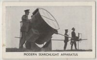 British Pre-WWII Modern Aircraft Searchlight 1930s Trade Card