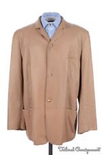 CARMEL BEIGE Soft Leather Mens Jacket Coat - EU 54 / US 44 / LARGE